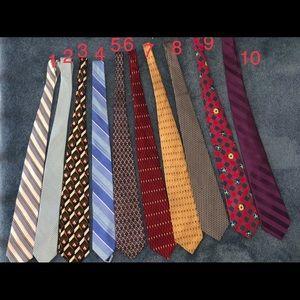 Bundle of 10 men's name brand ties